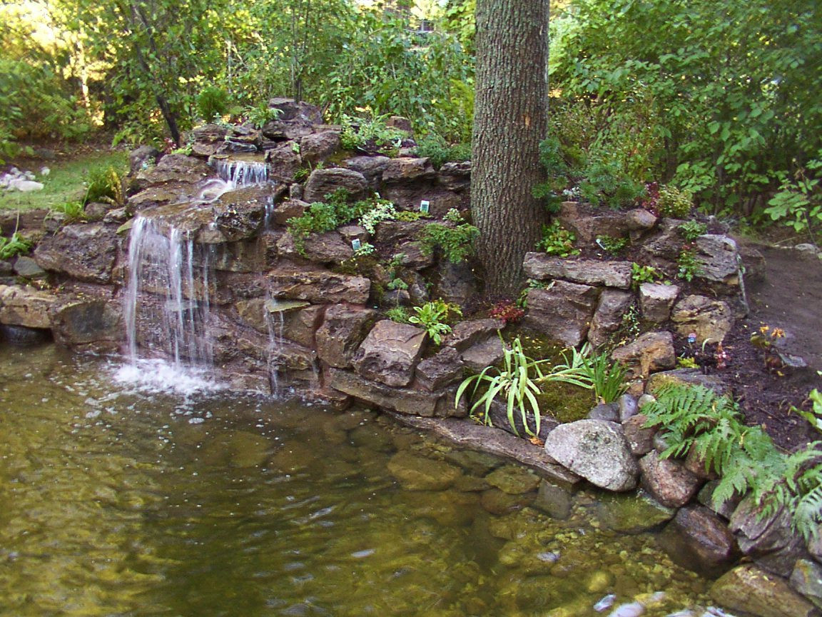 Best ideas about Backyard Waterfall Ideas . Save or Pin Backyard Garden House Design With Ponds And Stone Now.