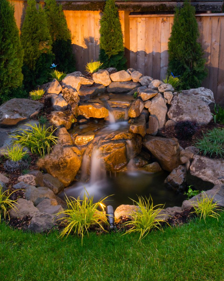 Best ideas about Backyard Waterfall Ideas . Save or Pin 75 Relaxing Garden And Backyard Waterfalls DigsDigs Now.