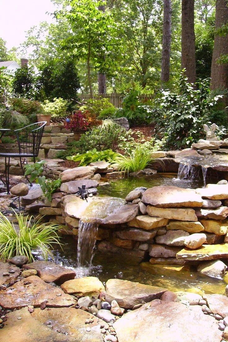 Best ideas about Backyard Waterfall Ideas . Save or Pin Top 17 Brick & Rock Garden Waterfall Designs – Start An Now.