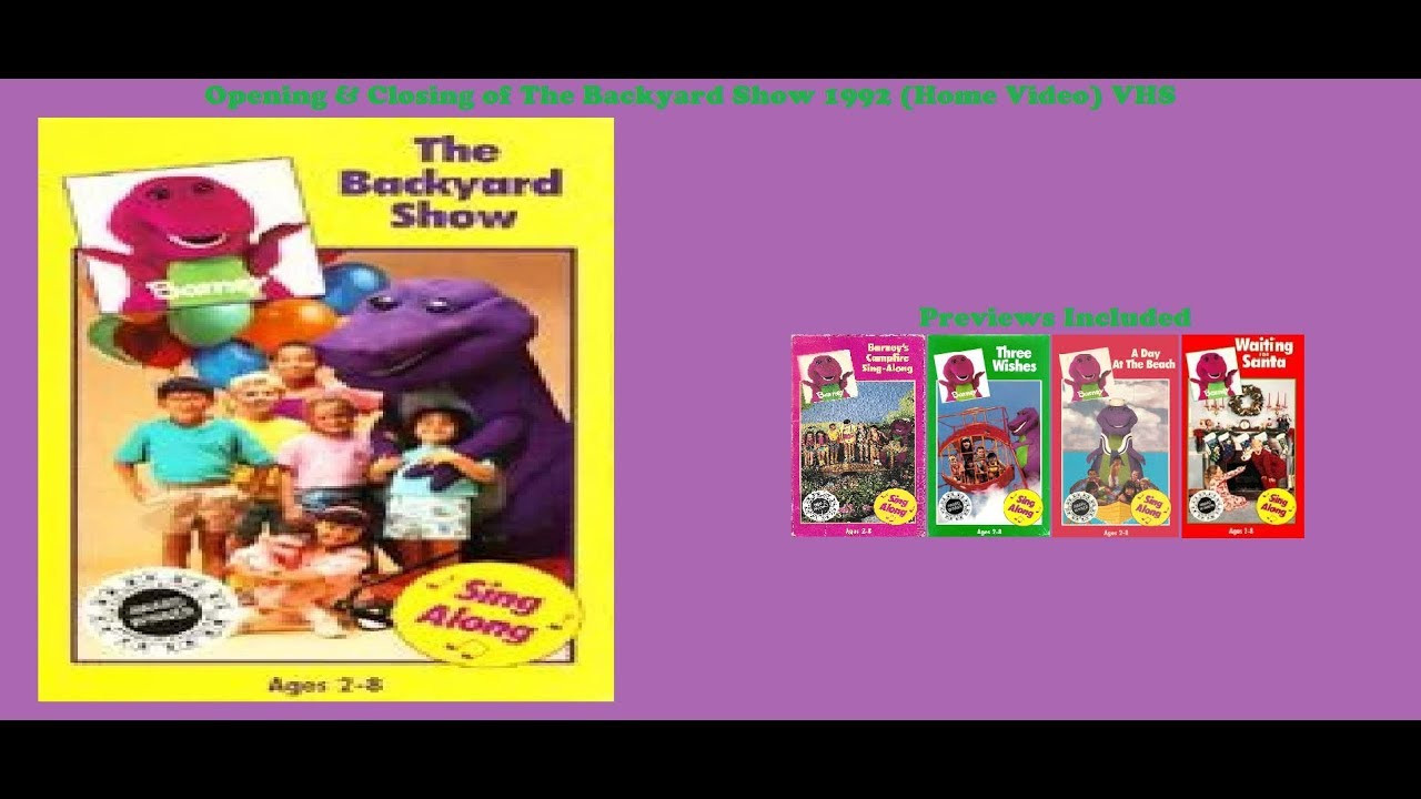 Best ideas about Barney The Backyard Show . Save or Pin Barney The Backyard Show 1992 Home Video VHS Opening Now.
