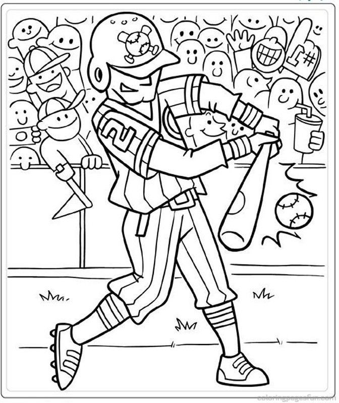 Best ideas about Baseball Coloring Pages For Kids . Save or Pin Baseball Coloring Pages For Kids AZ Coloring Pages Now.