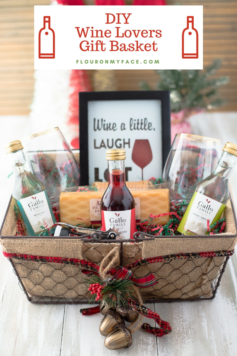 Best ideas about Basket Gift Ideas . Save or Pin DIY Wine Gift Basket Ideas Flour My Face Now.