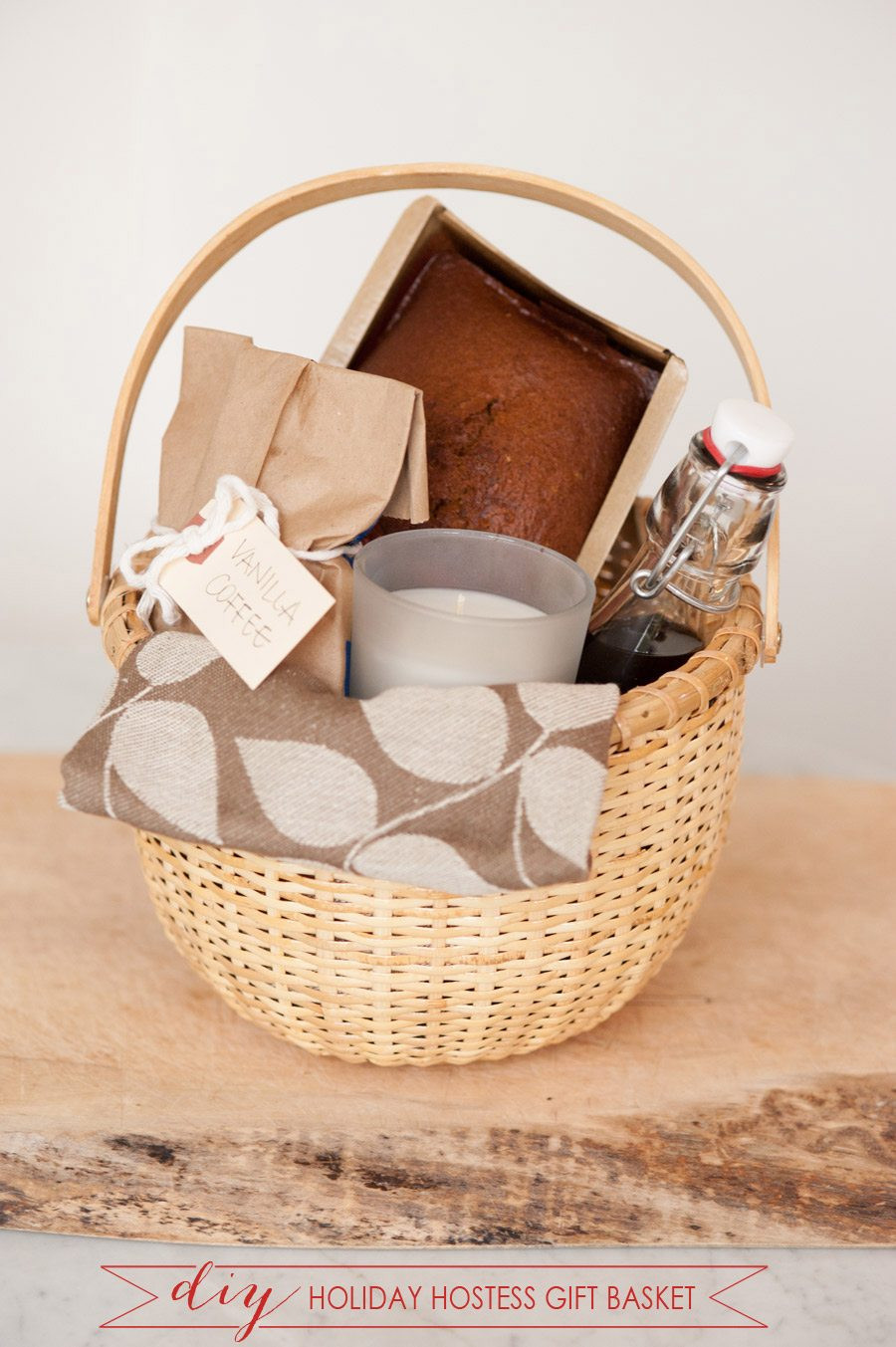 Best ideas about Basket Gift Ideas . Save or Pin DIY Holiday Hostess Gift Basket The Sweetest Occasion Now.