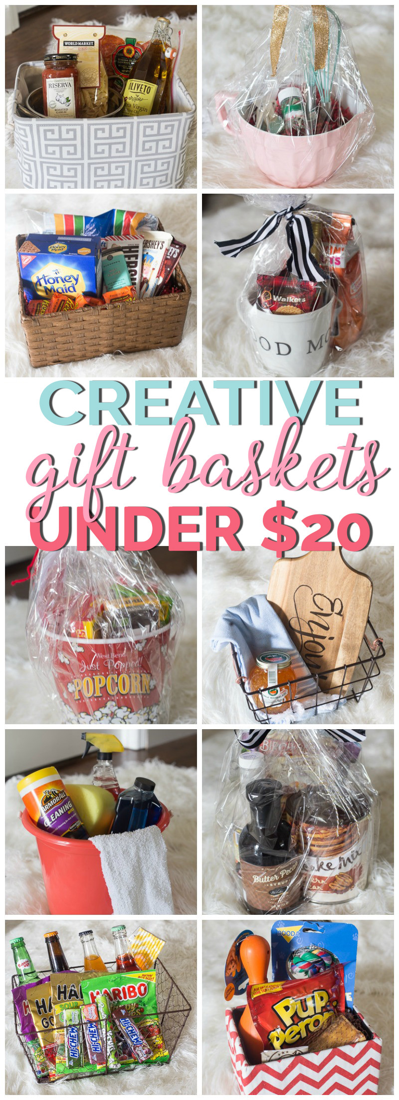 Best ideas about Basket Gift Ideas . Save or Pin Creative Gift Basket Ideas Under $20 Now.