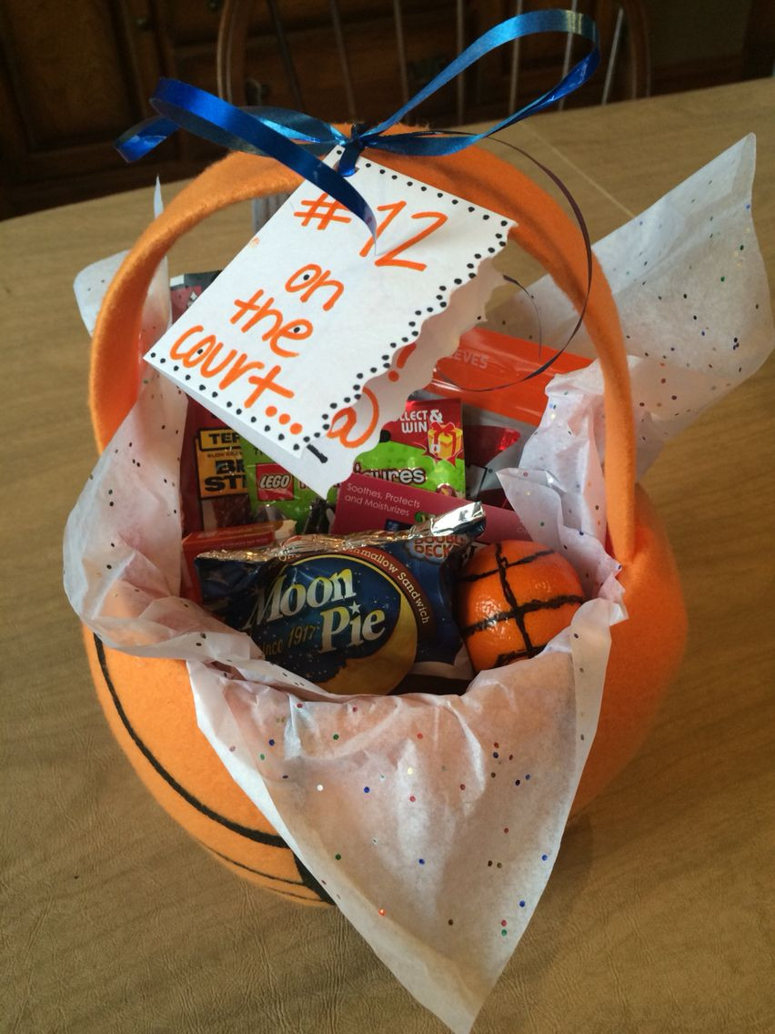 Best ideas about Basketball Gift Ideas . Save or Pin State Basketball t basket I made for my boyfriend Now.