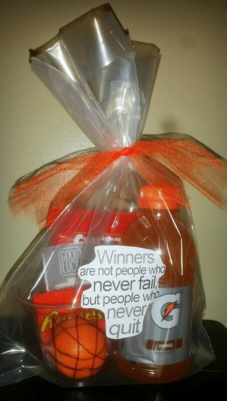 Best ideas about Basketball Team Gift Ideas . Save or Pin Basketball themed t basket with quote sticker Now.