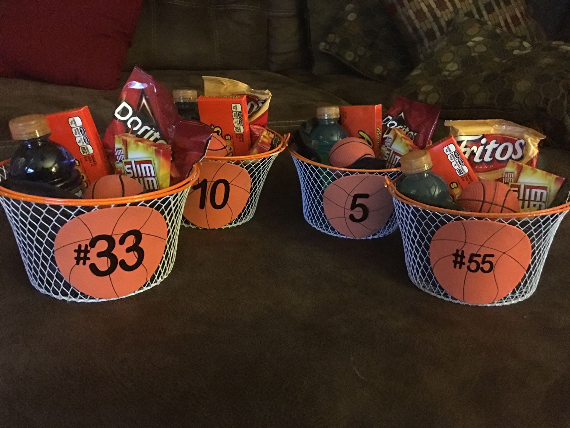 Best ideas about Basketball Team Gift Ideas . Save or Pin 8th grade Basketball t baskets Now.