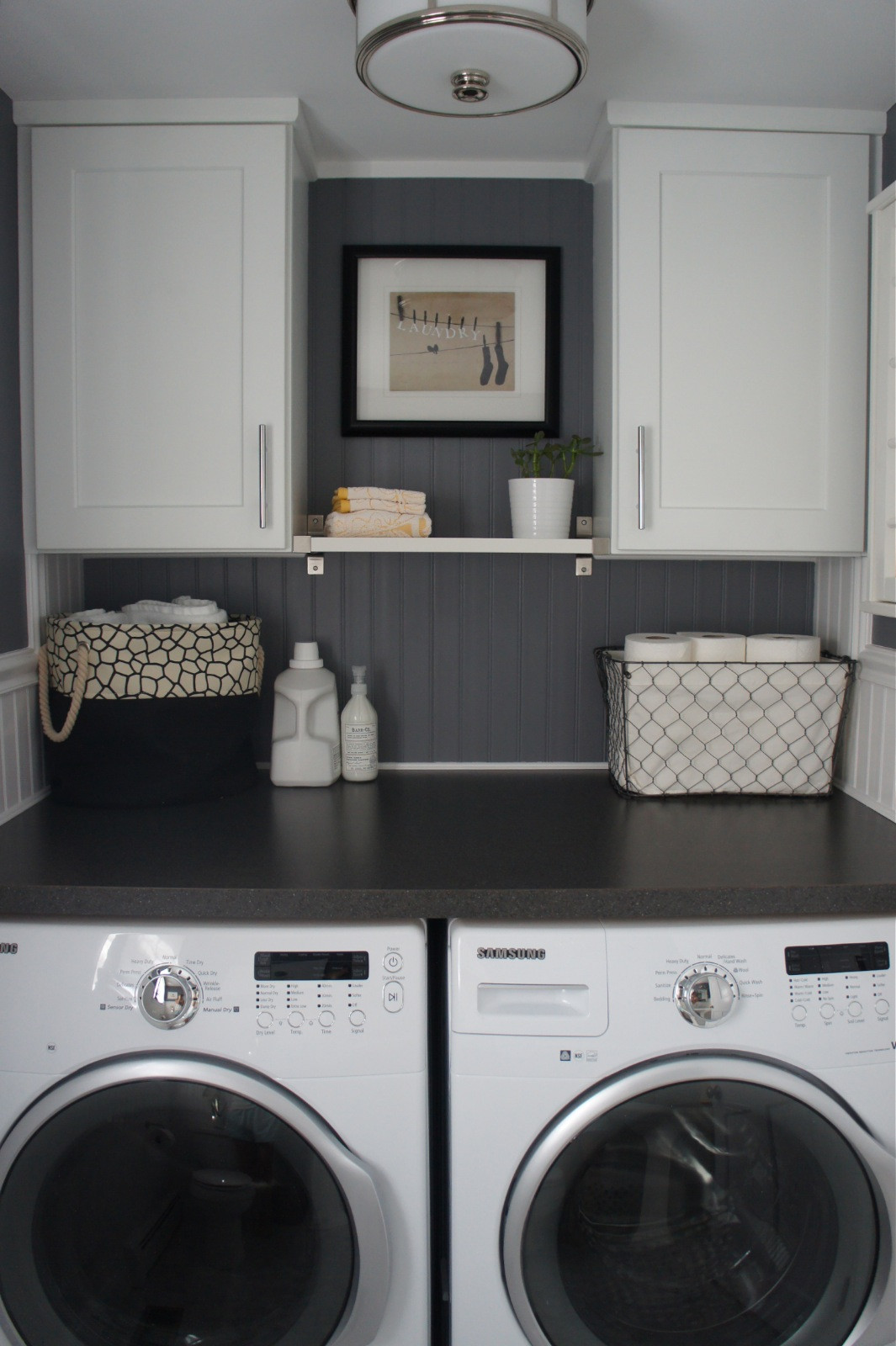 Best ideas about Bathroom Laundry Room . Save or Pin Home with Baxter House Tour Week 5 Half Bath Laundry Now.