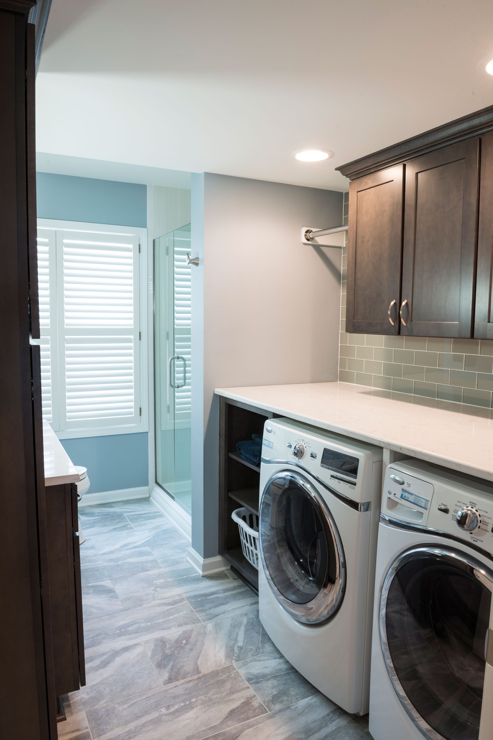 Best ideas about Bathroom Laundry Room . Save or Pin Converting Powder Bath to Full Bath Now.