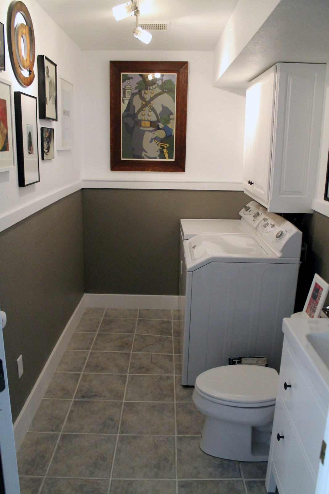 Best ideas about Bathroom Laundry Room . Save or Pin Laundry Room Half Bath Before and Afters Chris Loves Julia Now.