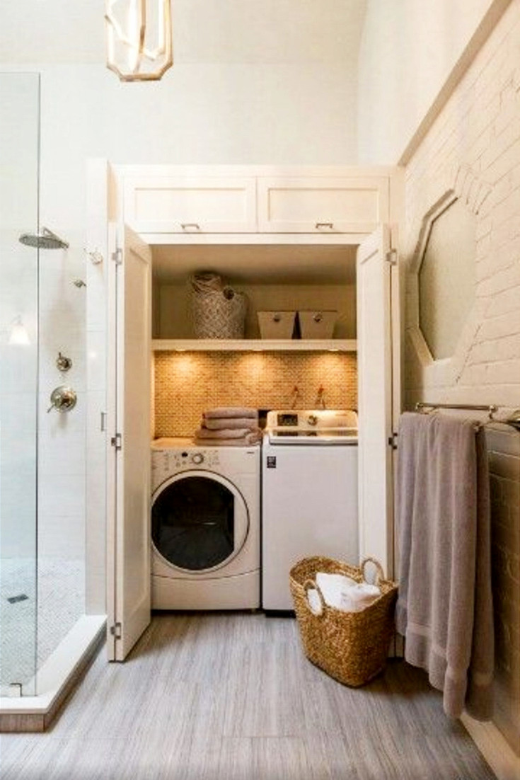 Best ideas about Bathroom Laundry Room . Save or Pin Laundry Nook Ideas We LOVE Involvery Now.