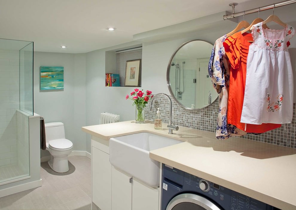 Best ideas about Bathroom Laundry Room . Save or Pin 24 Basement Bathroom Designs Decorating Ideas Now.