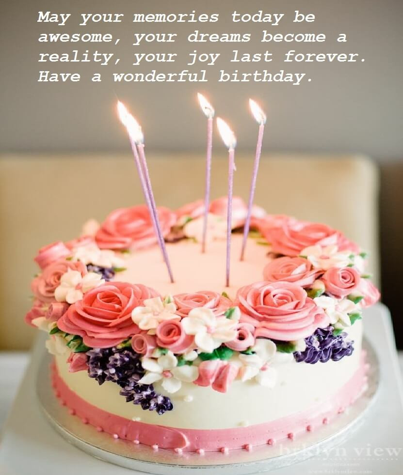 Best ideas about Beautiful Birthday Cake Images . Save or Pin Beautiful Birthday Cake Wishes Now.