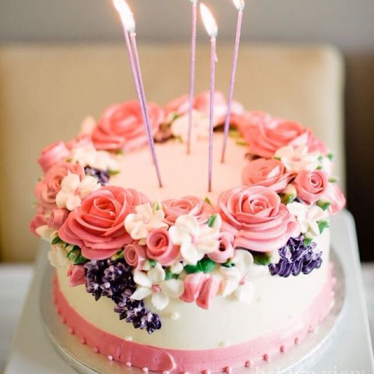 Best ideas about Beautiful Birthday Cake Images . Save or Pin Beautiful Birthday Cakes with Favorable Accent Now.