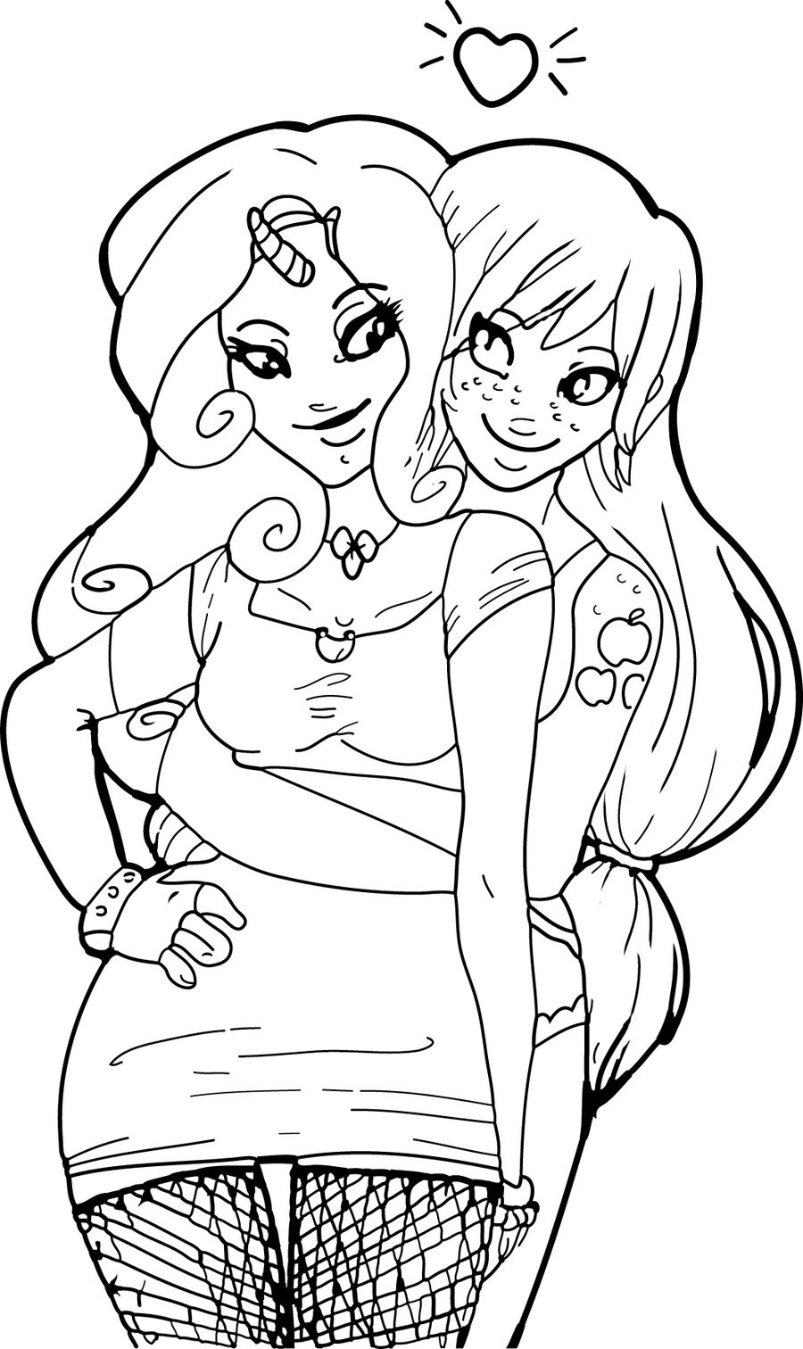 Best ideas about Best Friend Coloring Pages For Girls . Save or Pin Cute Best Friend Drawings Color to Pin on Now.