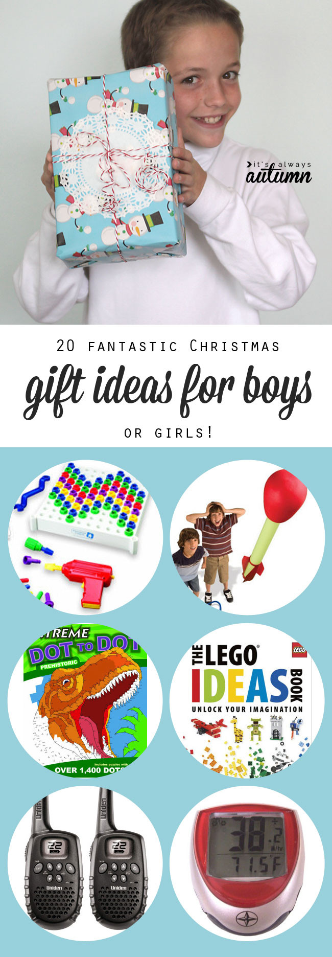 Best ideas about Best Gift Ideas For Boys . Save or Pin 20 best Christmas t ideas for boys It s Always Autumn Now.