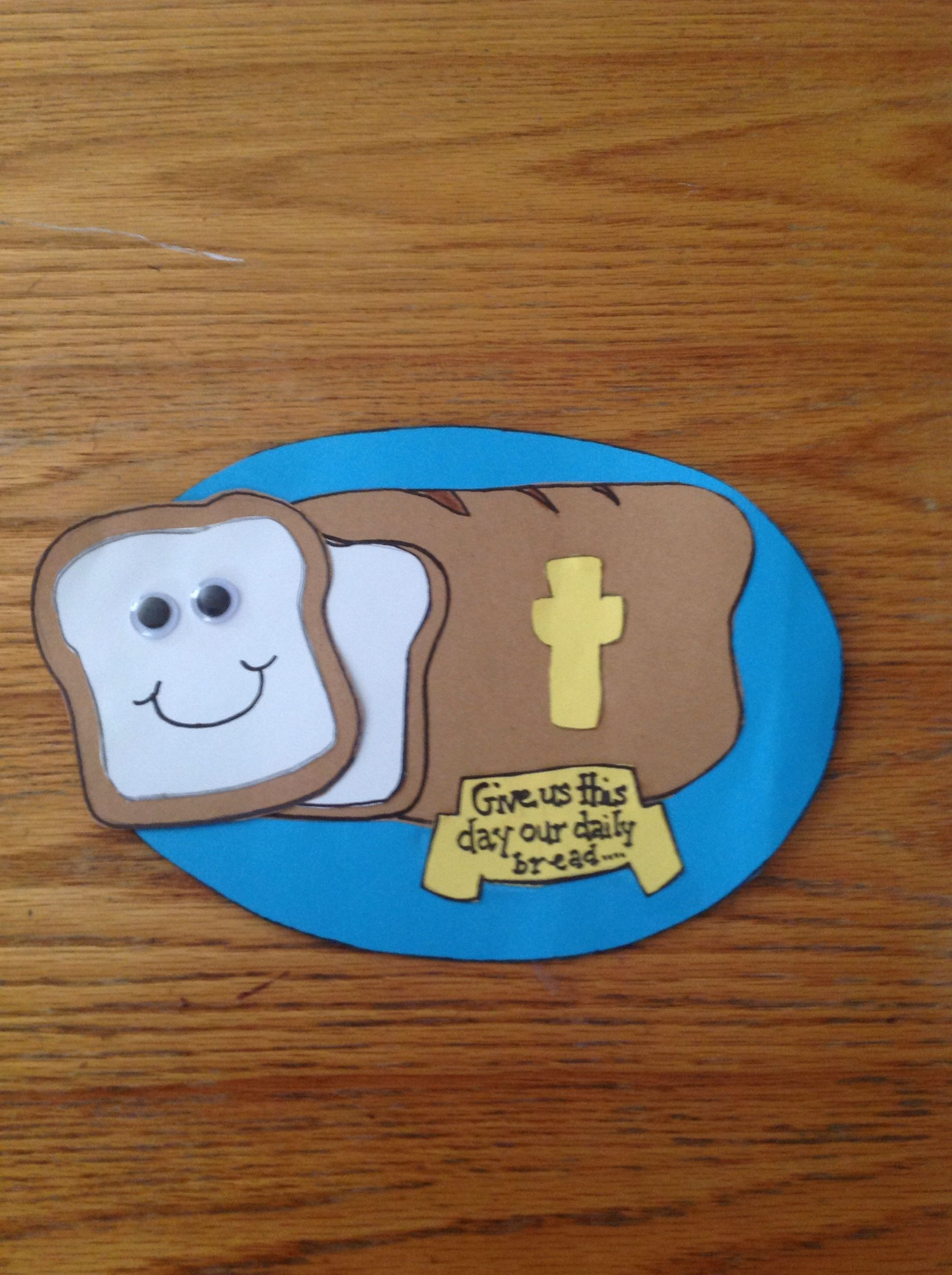 Best ideas about Bible Crafts For Preschoolers . Save or Pin Our Daily Bread Bible Craft for Kids Now.