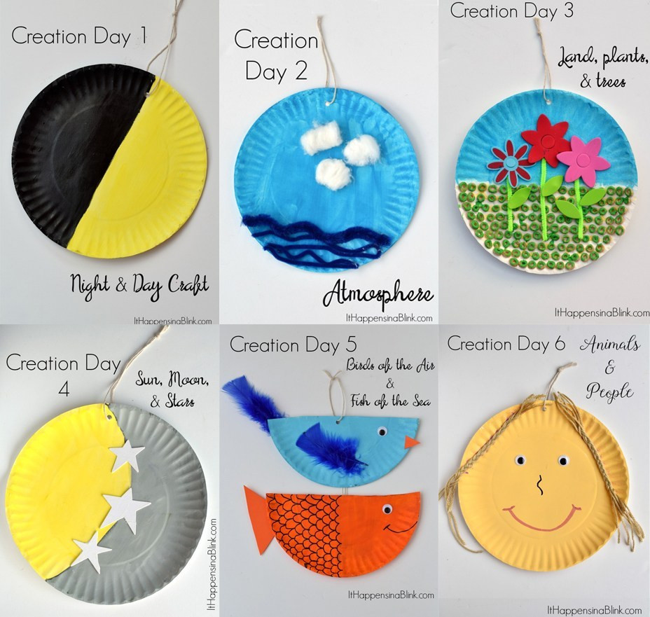 Best ideas about Bible Crafts For Preschoolers . Save or Pin 7 Days of Creation Craft Sunday School Godly La s Now.