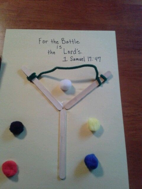 Best ideas about Bible Crafts For Preschoolers . Save or Pin David & Goliath craft for kids Treetop Now.