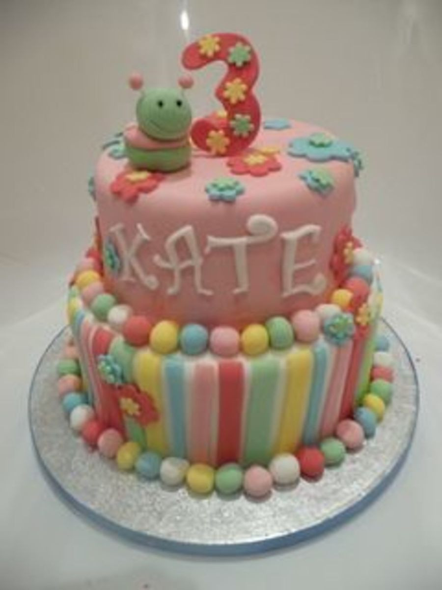 Best ideas about Birthday Cake For 3 Years Old Girl . Save or Pin 3 Year Old Girl s Birthday Cake CakeCentral Now.