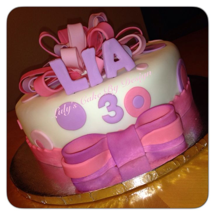 Best ideas about Birthday Cake For 3 Years Old Girl . Save or Pin 3 years old Girl birthday cake Loop bow cake Now.