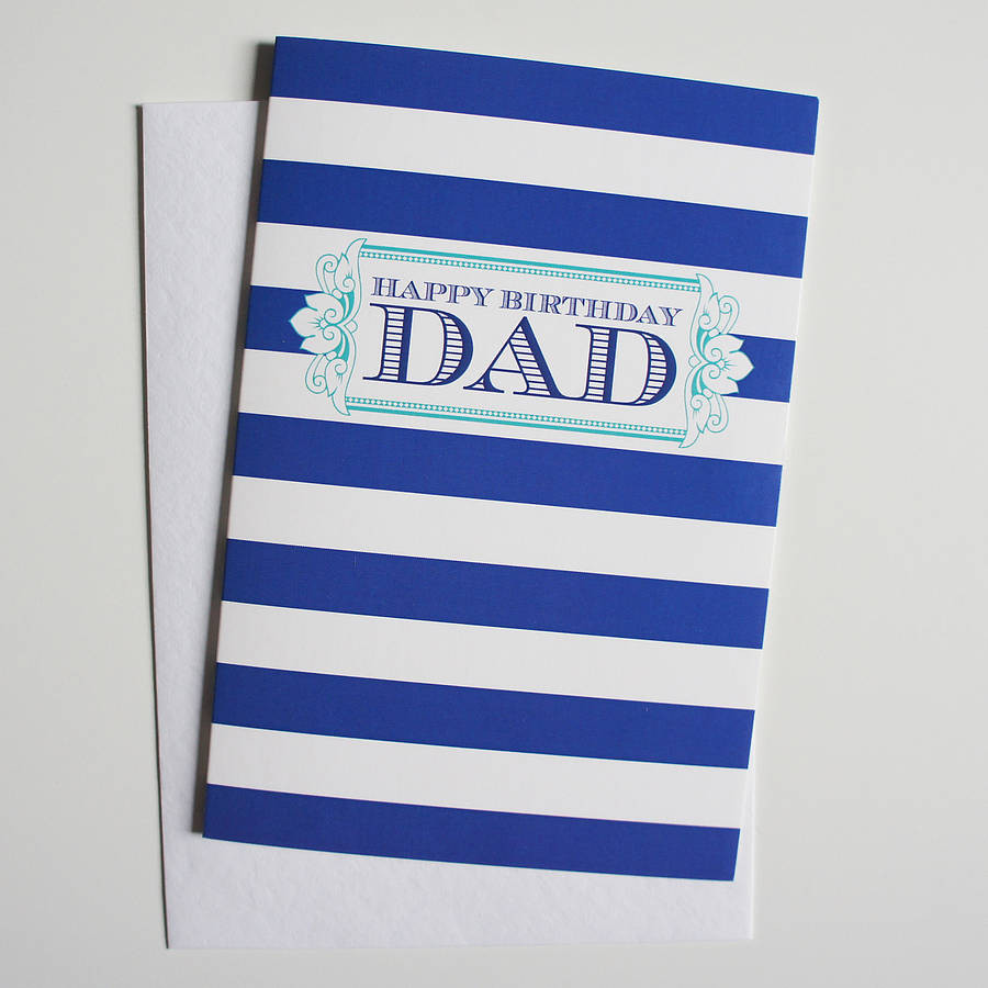 Best ideas about Birthday Card Dad . Save or Pin dad birthday greeting card by dimitria jordan Now.