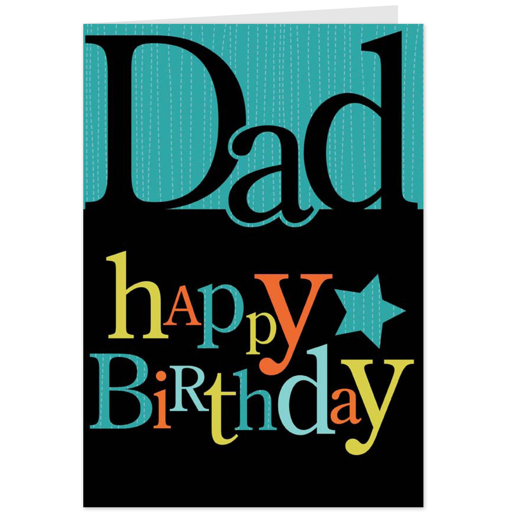 Best ideas about Birthday Card Dad . Save or Pin Dad Happy Birthday Greeting Card Now.