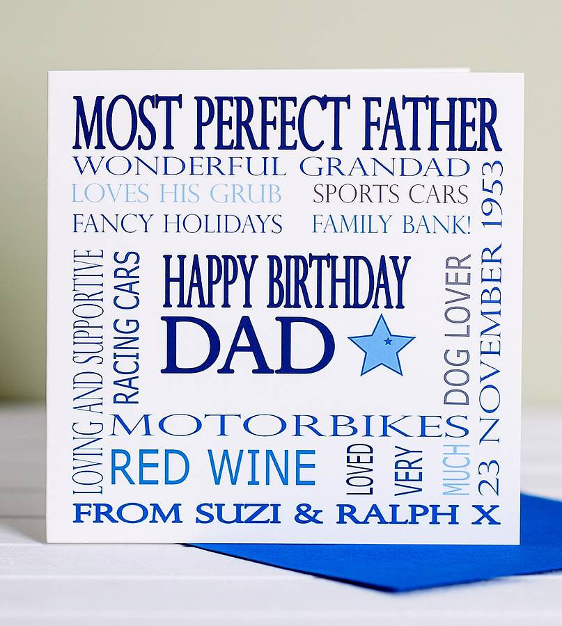 Best ideas about Birthday Card Dad . Save or Pin personalised dad birthday card by lisa marie designs Now.