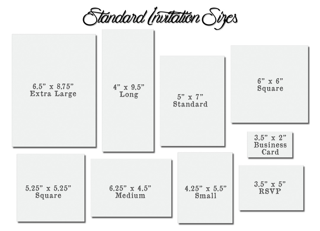 Best ideas about Birthday Card Dimensions . Save or Pin Invitation Card Size Now.
