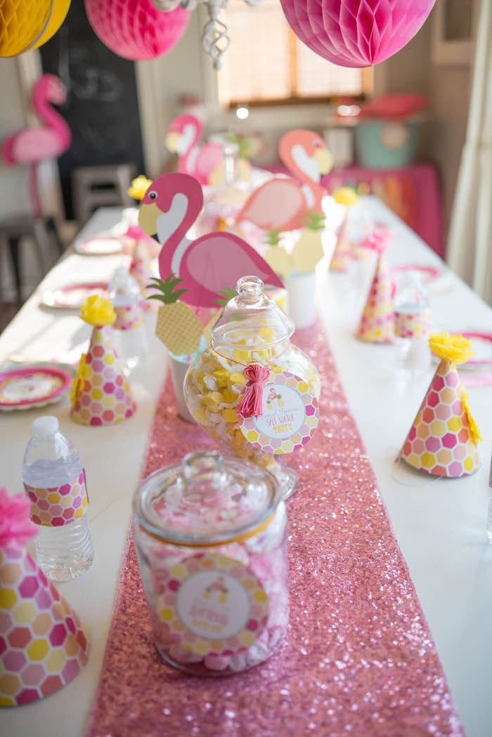 Best ideas about Birthday Decorations Ideas . Save or Pin Kara s Party Ideas Flamingo Flamingle Pineapple Party Now.