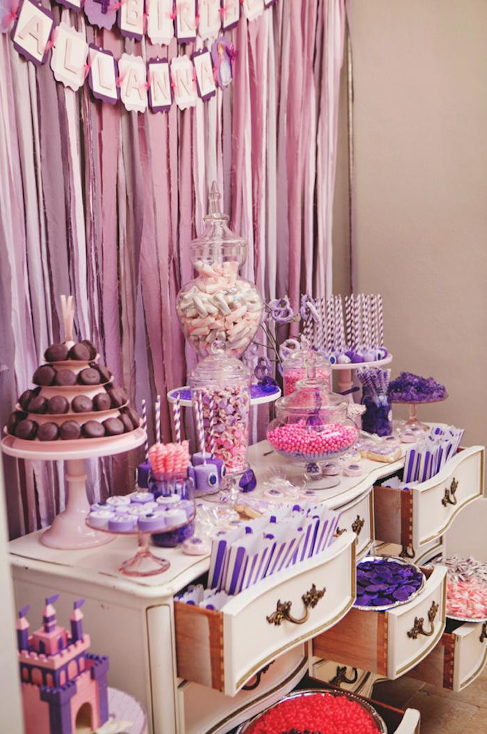 Best ideas about Birthday Decorations Ideas . Save or Pin Kara s Party Ideas Sofia the First themed birthday party Now.