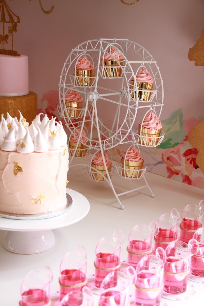 Best ideas about Birthday Decorations Ideas . Save or Pin Kara s Party Ideas Floral Carousel Birthday Party Now.