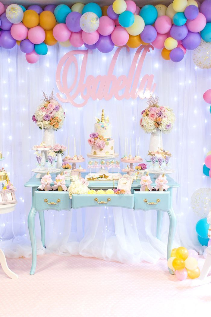 Best ideas about Birthday Decorations Ideas . Save or Pin Mystical and Magical Unicorn Birthday Party Now.
