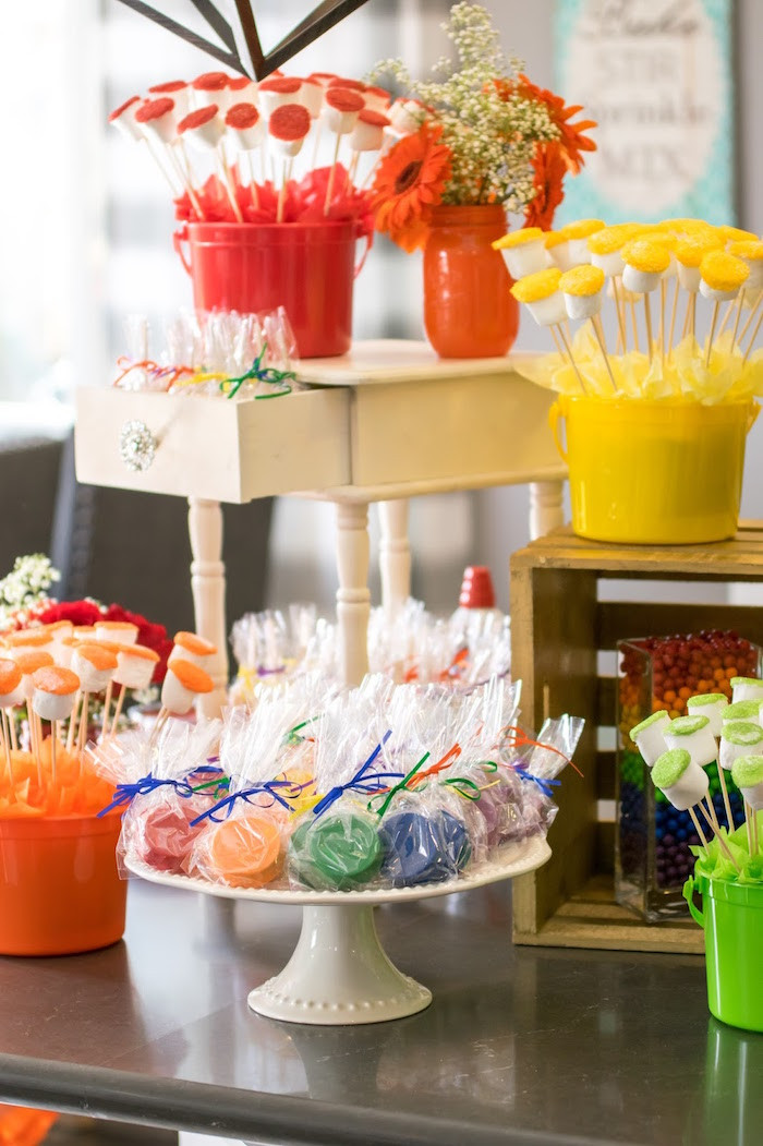 Best ideas about Birthday Decorations Ideas . Save or Pin Kara s Party Ideas Rainbow Paint Party Now.
