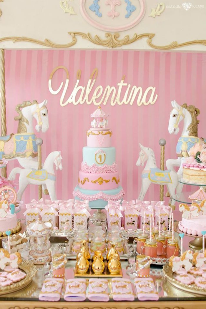 Best ideas about Birthday Decorations Ideas . Save or Pin Kara s Party Ideas Enchanted Carousel Birthday Party Now.