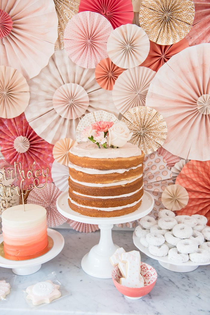 Best ideas about Birthday Decorations Ideas . Save or Pin Kara s Party Ideas Peach Coral Vintage Birthday Party Now.