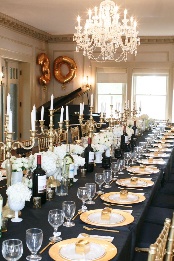 Best ideas about Birthday Dinner Ideas For Adults . Save or Pin Gatsby Inspired New Year's Eve Dinner Party Ideas Now.