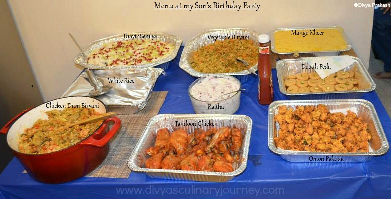 Best ideas about Birthday Dinner Ideas For Adults . Save or Pin Divya s culinary journey My Son s Birthday Party Menu Now.
