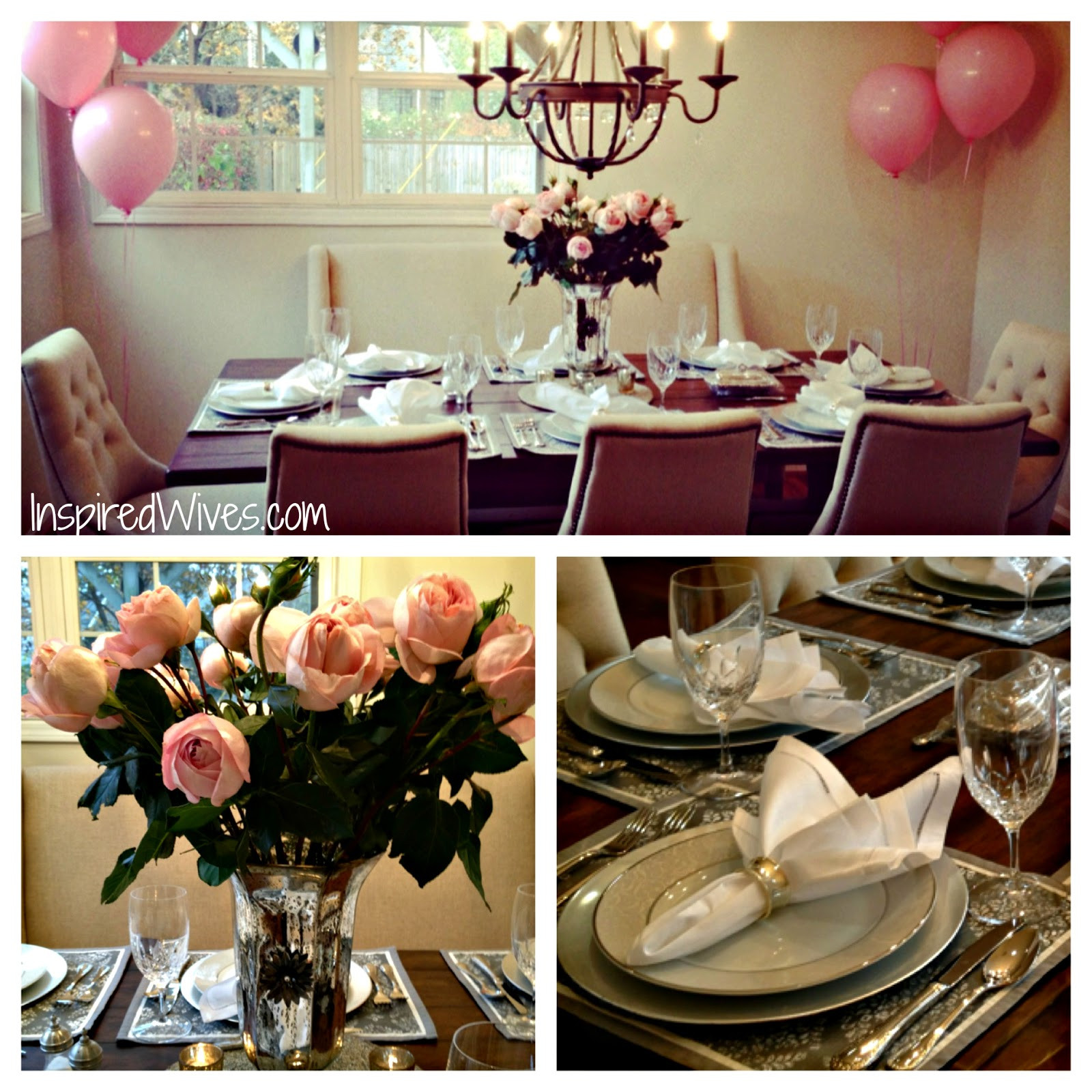 Best ideas about Birthday Dinner Ideas For Adults . Save or Pin Inspired I Dos Elegant Dinner Party Think Pink Now.