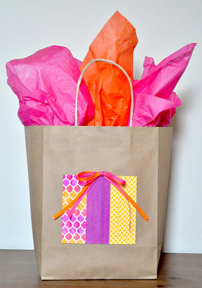 Best ideas about Birthday Gift Bag Ideas . Save or Pin Cute and Economic Kraft Gift Bag idea The Love Nerds Now.