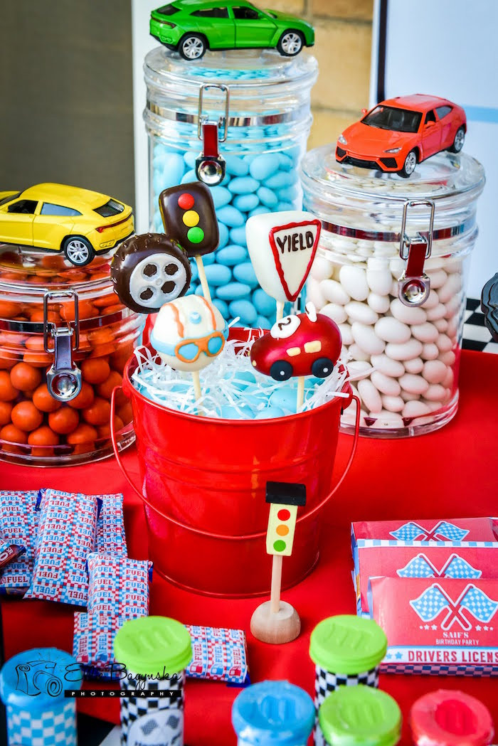 Best ideas about Birthday Party Theme . Save or Pin Kara s Party Ideas Red & Blue Race Car Birthday Party Now.