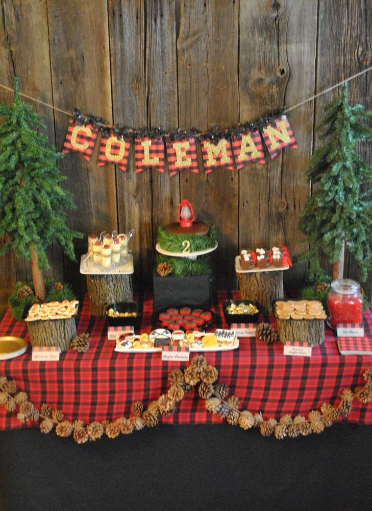 Best ideas about Birthday Party Theme . Save or Pin Lumberjack Camping Birthday Party Ideas Now.