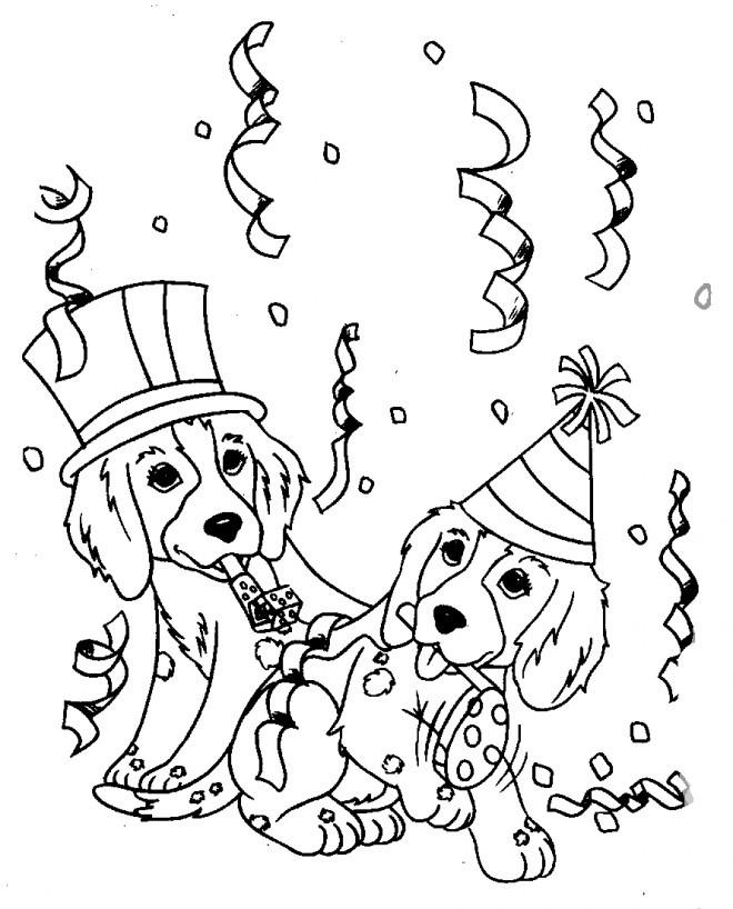 Best ideas about Birthday Puppy Coloring Pages For Girls . Save or Pin Coloriage Anniversaire de Chiots dessin gratuit à imprimer Now.