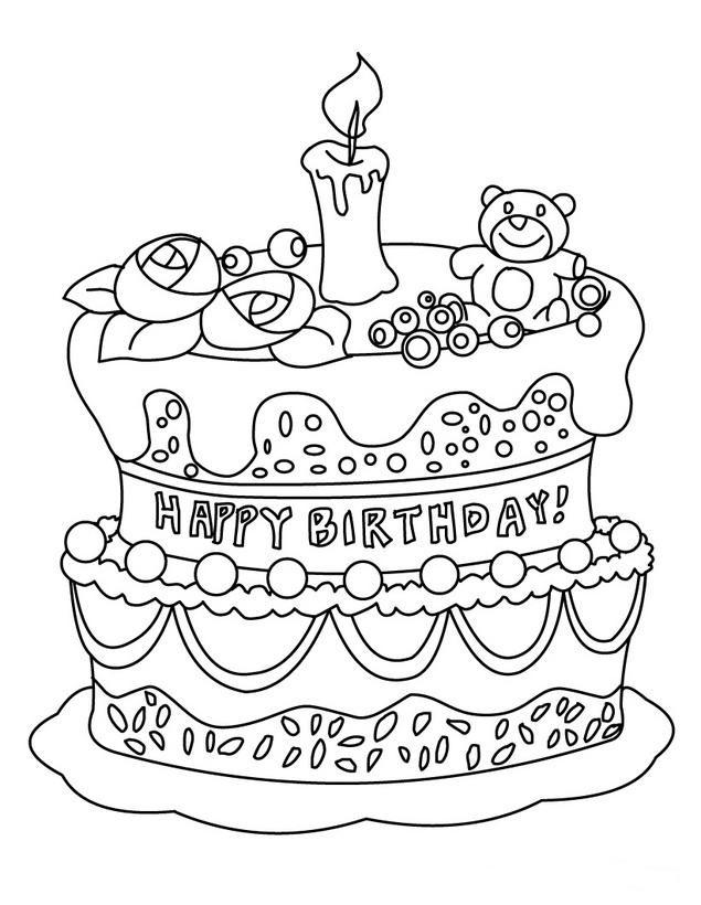 Best ideas about Birthday Puppy Coloring Pages For Girls . Save or Pin 54 Tarjetas de Felz Cumpleaños para pintar y regalar Now.