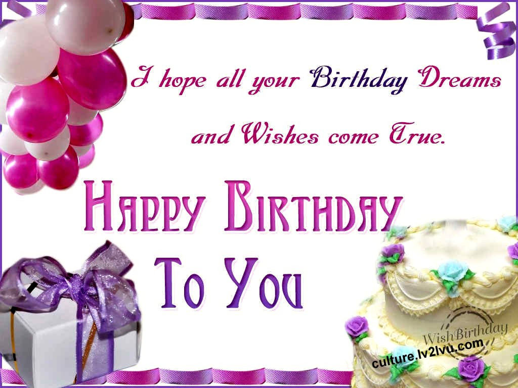 Best ideas about Birthday Wish Pic . Save or Pin Happy birthday wishes Now.
