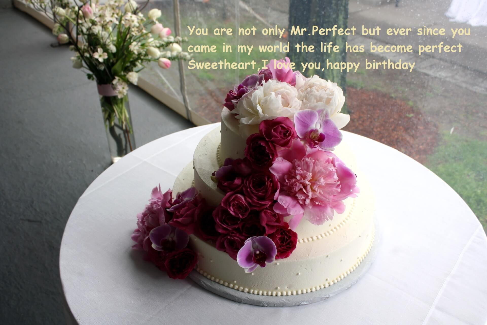 Best ideas about Birthday Wishes Cake . Save or Pin Happy Birthday Cake Wishes With Flowers Now.