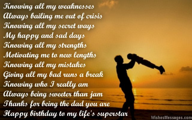 Best ideas about Birthday Wishes For Daughter From Dad . Save or Pin Birthday Poems for Dad – WishesMessages Now.