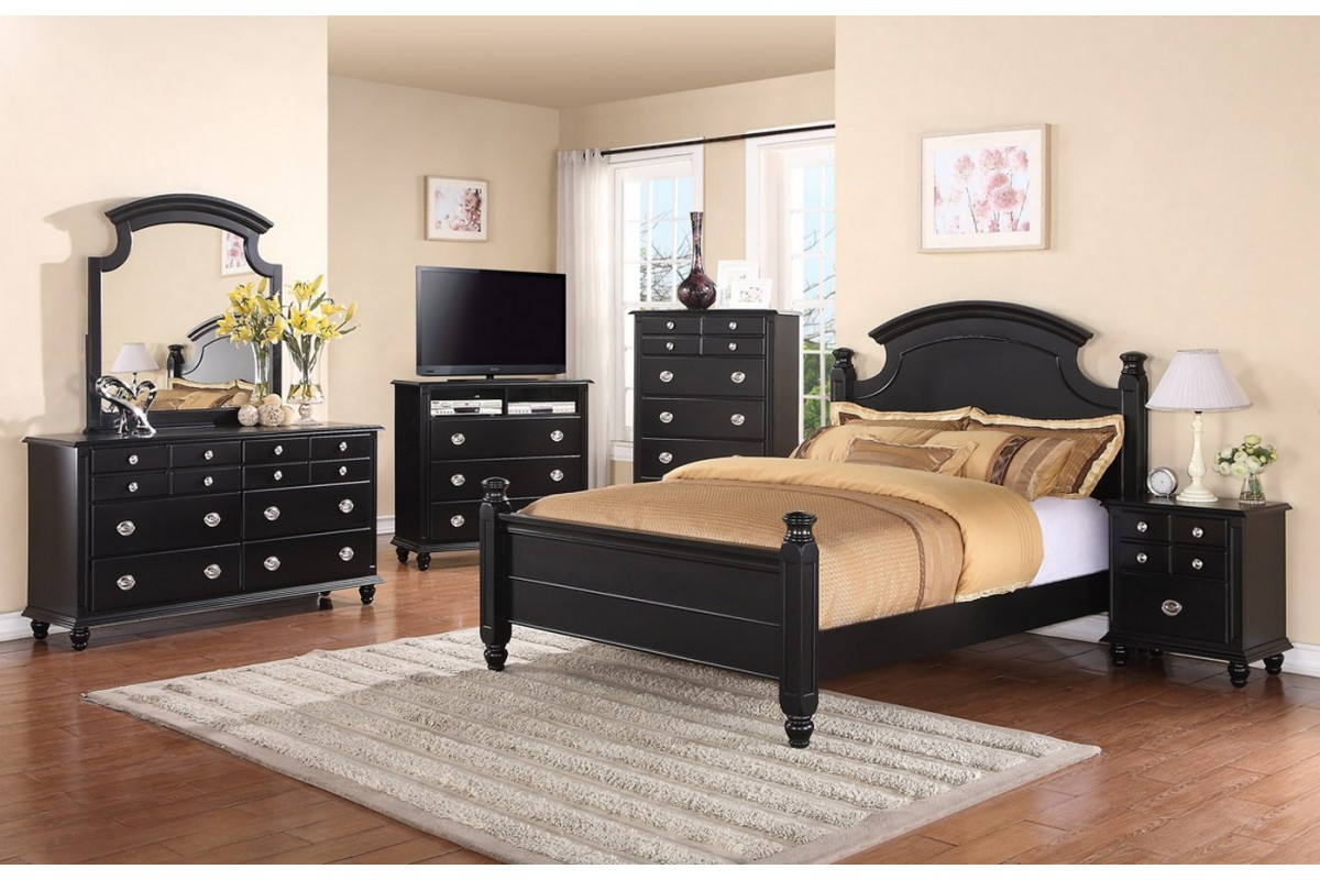Best ideas about Black Bedroom Set . Save or Pin Bedroom Sets Freemont Black King Size Bedroom Set Now.