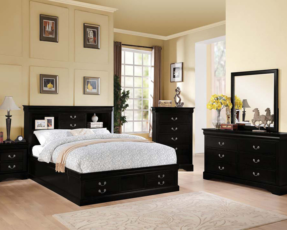 Best ideas about Black Bedroom Set . Save or Pin Acme Black Bedroom Set Louis Philippe III AC SET Now.