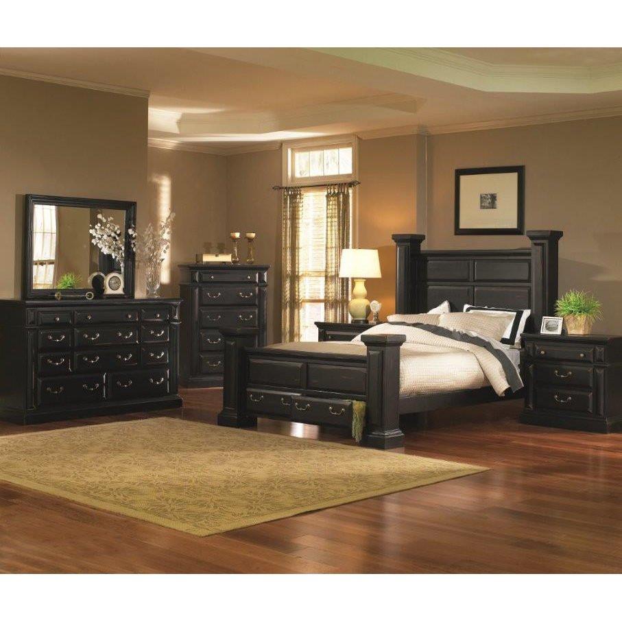 Best ideas about Black Bedroom Set . Save or Pin Torreon Black 6 Piece Queen Bedroom Set Now.